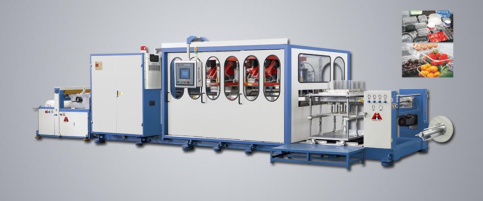 HSC-750850高效程控塑料气压热成型机